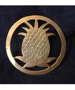 Round Brass Pineapple Trivet - $9.49