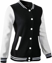 Women's Varsity Baseball Jacket Casual Sweatshirt - $55.98