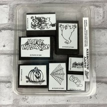 Happy Halloween Stampin' Up! 7 Pc. Foam Set 1990 New Pumpkin Ghost Spider Boo - $11.07