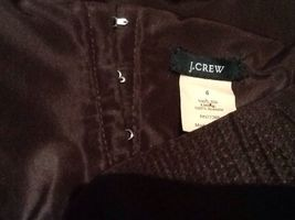 J.Crew Women's 6 100% Silk Brown Strapless Dress Lined image 4