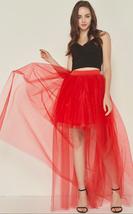 White Hilo Over-skirt / Wedding Bridal Wear Tulle Skirt / White Open Tulle Skirt image 15