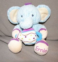 KIDS II BRIGHT STARTS ERNIE ELEPHANT STUFFED PLUSH BLUE PURPLE TEA POT TOY - $59.39