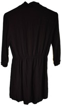 Forever 21 00174473 Casual Knit Jersey Black Dress w Buttons Size XS image 2