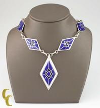 925 Argent Sterling & Lapis Diamant en Forme De Navajo Collier - $751.02