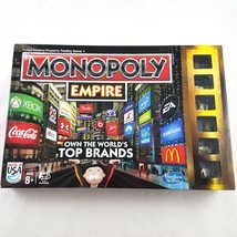 Monopoly Empire Gold Edition Board Game Hasbro 2013 Own The Worlds Top B... - $49.39