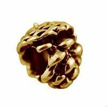 NICE Pinecone Charm Authentic European bead jewelry gold plated over Ste... - $21.17