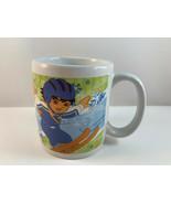 Go Diego Go Coffee Mug Diego Marquez Cartoon Snowboarding Skiing - $7.91