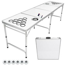 Beer Pong Table Portable Party Custom Dry Erase 8ft Folding Official Cup... - $137.07