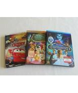 Lot Cars Widescreen (DVD, 2006) + Alice in Wonderland + Enchanted w/ Sli... - $9.09