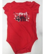 """Jumping Beans """"My First 4th!"""" short sleeve romper SIZE 6 MONTHS - $5.89"""