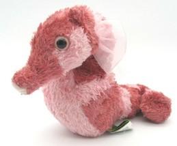 "Wild Republic Cuddlekins Mauve & Pink Beanbag Plush SEAHORSE Sea Horse 6"" tall - $9.79"