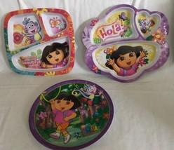 Dora the Explorer & Boots the monkey melamine plates Divided Zak! Child Hola! - $19.79