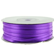 """1/8"""" X 100 Yard Purple Double Faced Satin Ribbon Art Sewing Party Favor - $7.24"""