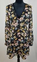 Forever 21 women M dress boho long sleeve floral knee length - $16.83
