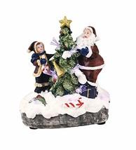TII Resin Light Up Christmas Scene - Santa and Child - $28.57