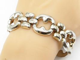 925 Sterling Silver - Vintage Shiny Large Open Link Chain Bracelet - B5999 - $107.71