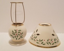Nice MWT Lenox Holiday Holly Leaves & Berries Tealight Candle Holder Lam... - $14.55