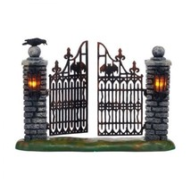 Department 56 Snow Village Halloween Spooky Wrought Iron Gate Figure 404... - £244.91 GBP