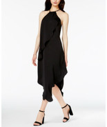 Bar Iii Draped Asymmetrical Dress, black xxs - $20.79