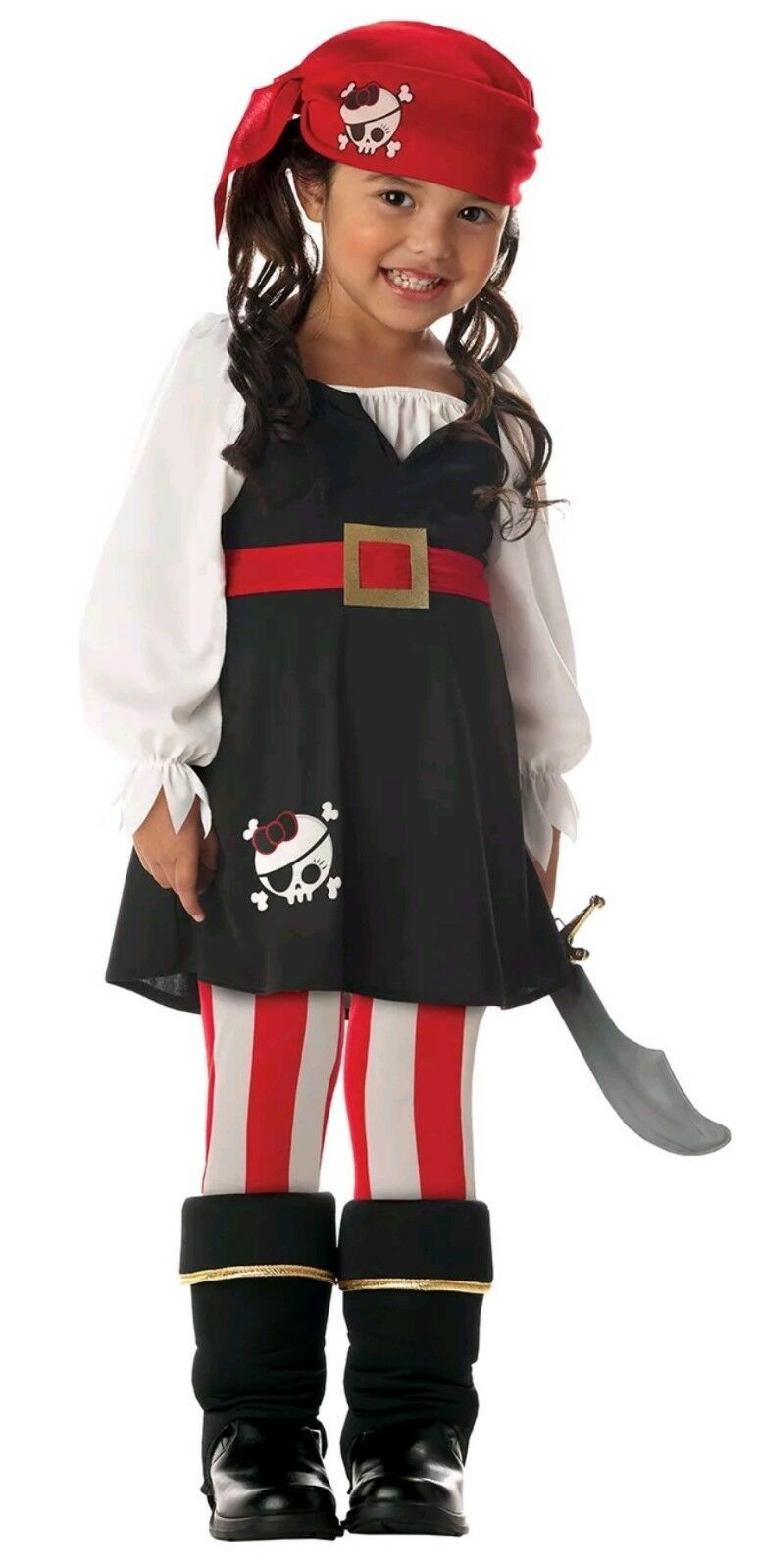 California Costumes Precious Lil' Pirate Girl's Costume, Toddler M 3-4 Dress Up