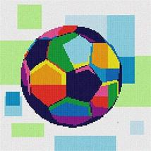 pepita Soccer Ball in Color (Small) Needlepoint Kit - $85.00