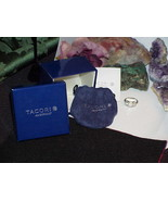 "QVC TACORI Diamonique Epiphany 3 Stone Oval Halo Ring ""Bloom with Love"" ... - $272.25"