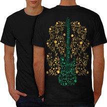 Bass Guitar Rock Music Shirt Instrumental Men T-shirt Back - $12.99+