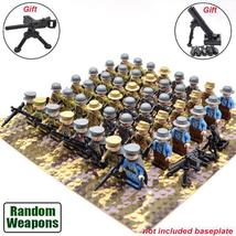 48pcs/Set WW2 Military Soldiers France US Britain Italy Army with Weapon Lego - $54.99