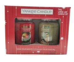 Yankee Candle 2 Large Jar Candle Set Macintosh & Sage & Citrus. 22oz Hol... - $59.38