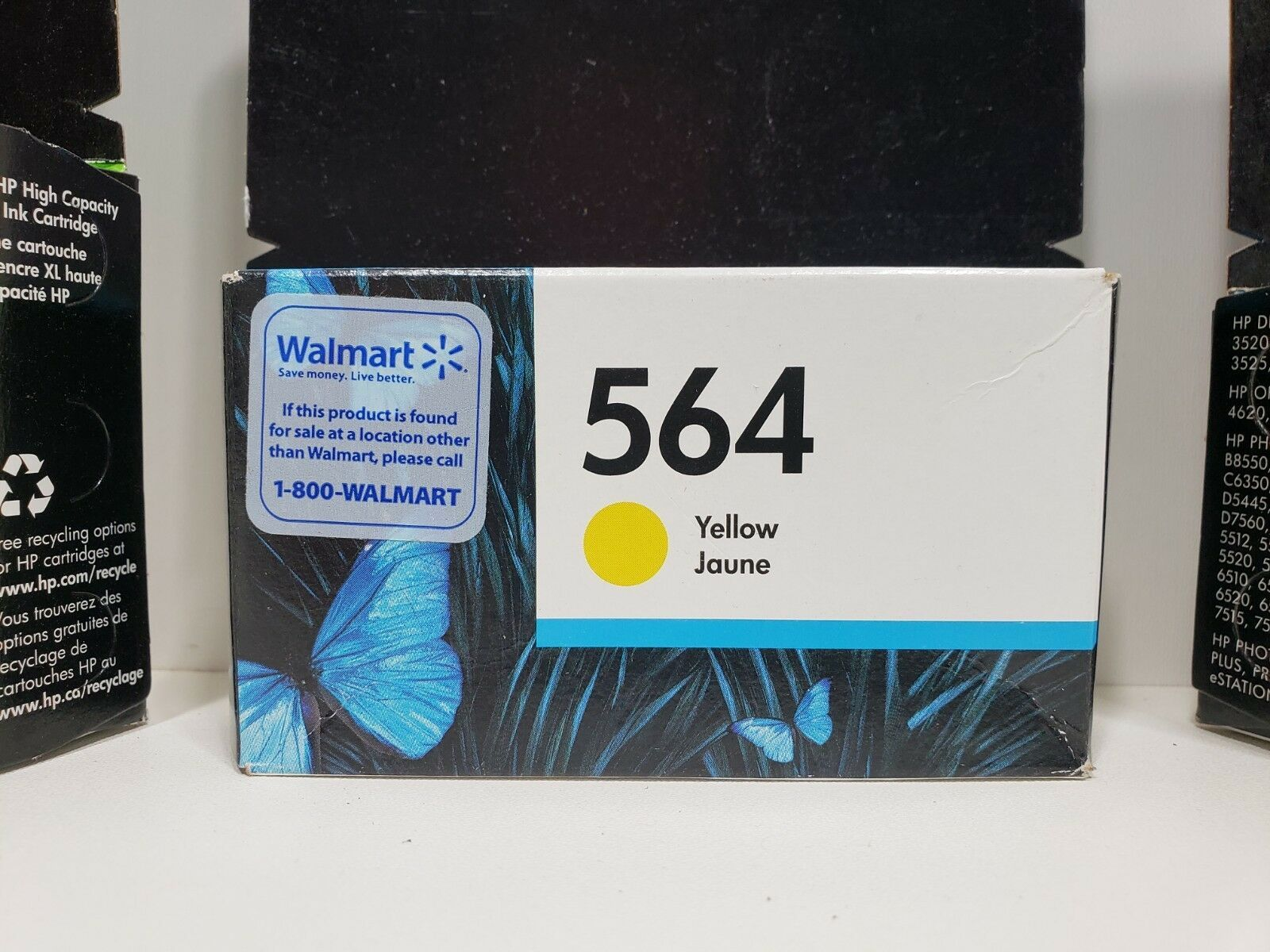 HP 564 3 Ink Cartridges. 2 Expired 2018, 1 Expires Feb. 2019. Factory Sealed image 5