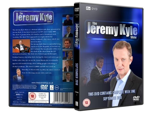 ITV DVD - The Jeremy Kyle Show UK September 2018 Week One DVD