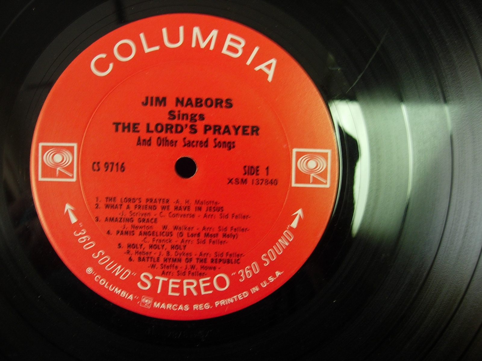 Jim Nabors - The Lord's Prayer & Other Sacred Songs - Columbia Records CS 9716