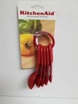 KITCHENAID EMPIRE RED 5 PC MEASURING SPOONS - $6.99
