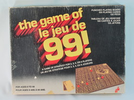 The Game of 99 le jeu de 99 Board Game 1969 Irwin Toy 100% Complete Rare... - $39.61