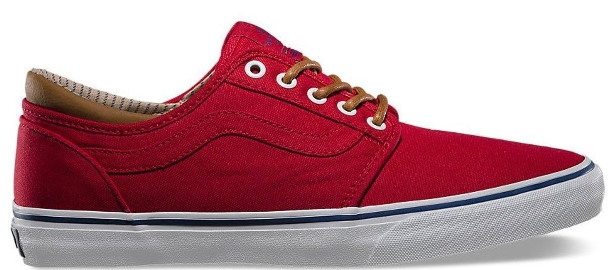 Vans Trig (Trim) Red/White Men's Authentic Classic Skate Shoes SIZE 11 image 2