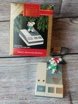 1992 Hallmark Keepsake Christmas Ornament Santa's Answering Machine Magic - $14.95