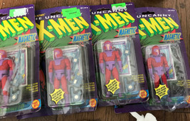 Lot of 4 X-Men Toy Biz Action Figures NEW 1991 Magnetic Hands + Card some damage - $44.54