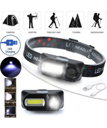 LED Headlight XPE COB LED 6 mode Headlight Straps Adjustable Headlamp Re... - $14.00