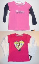 Nike Toddler Girls Long Sleeve T-Shirts 2 Choices Sizes 12M or 2T NWT - $11.89