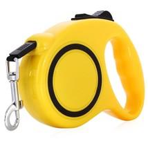 Dog Pet Yellow Leash Retractable Maximum Tension 33 LBS 16.5 Feet 5m USA... - $6.80