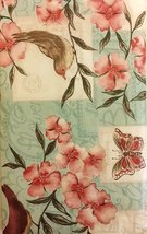 Elrene Birds and Butterflies Among Flowers Vinyl Flannel Backed Tableclo... - $15.99