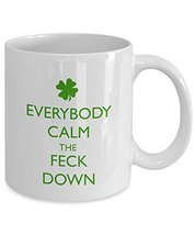 Funny Irish Coffee Mug - Gift for Irish Humor Lovers and for St. Patrick's Day - $14.95