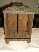 Antique Cast Iron Safe Bank or Clock Case , Ornate , 1800s , Repurpose ... - $50.00