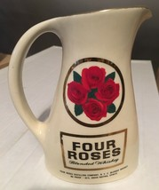 "Four Roses Blended Whiskey 6.75"" Tall Porcelain Pitcher EX Condition - $13.64"