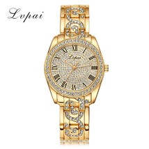 Lvpai® Gold Women Bracelet Watch Luxury Alloy Quartz Fashion Luxury Dres... - $18.08