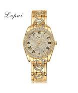 Lvpai® Gold Women Bracelet Watch Luxury Alloy Quartz Fashion Luxury Dres... - $18.08