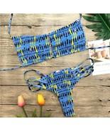Sexy Women Bikin Strapless Bikini  Floral Printing  Spaghetti Strap Swim... - $23.55