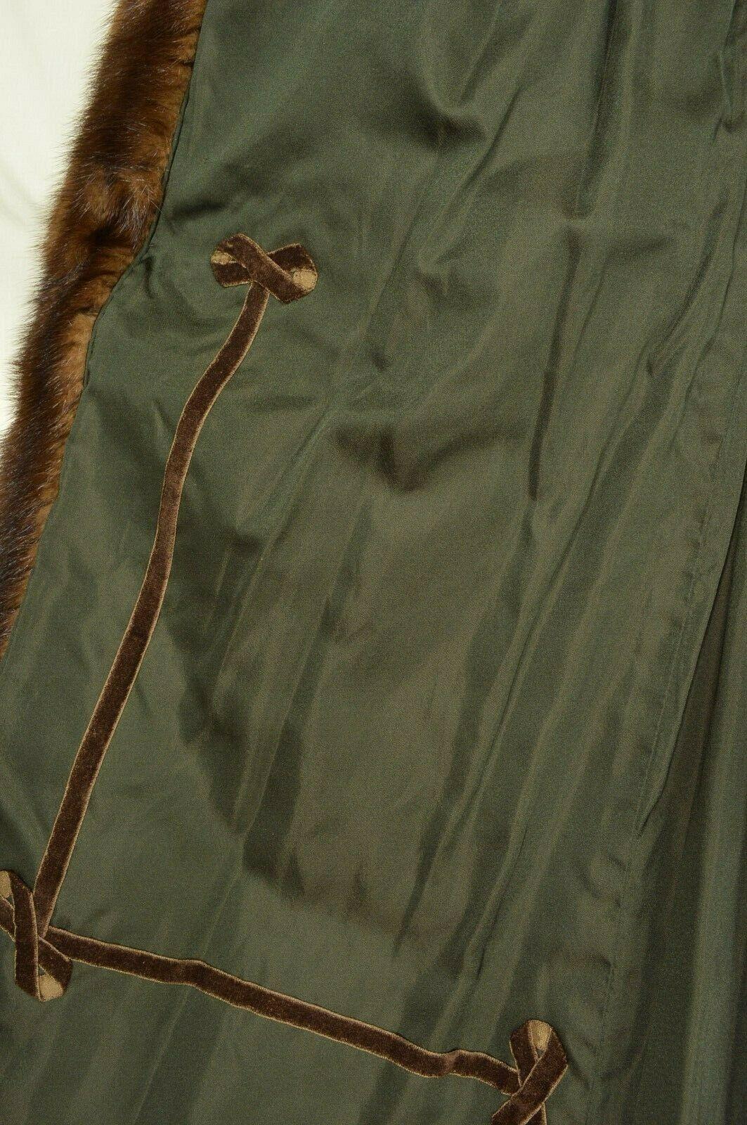 France Olivia mink fur coat FR 44 full length mahogany chic sophisticate brown image 10