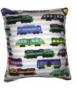 Trains Pillow Handmade In USA Classic Train Designs HO Lionel Trains Pil... - $9.99