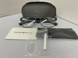 Emporio Armani EA1103 3294 Matte Gray Rx Eyeglass Frames 55-18-145 Brand New - $87.07